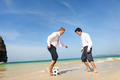 Business Colleagues Vacation Beach Cheerful Concept