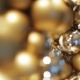 Golden Christmas Decoration Or Garland Of Beads 9