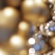 Golden Christmas Decoration Or Garland Of Beads 10