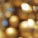 Golden Christmas Decoration Or Garland Of Beads 11