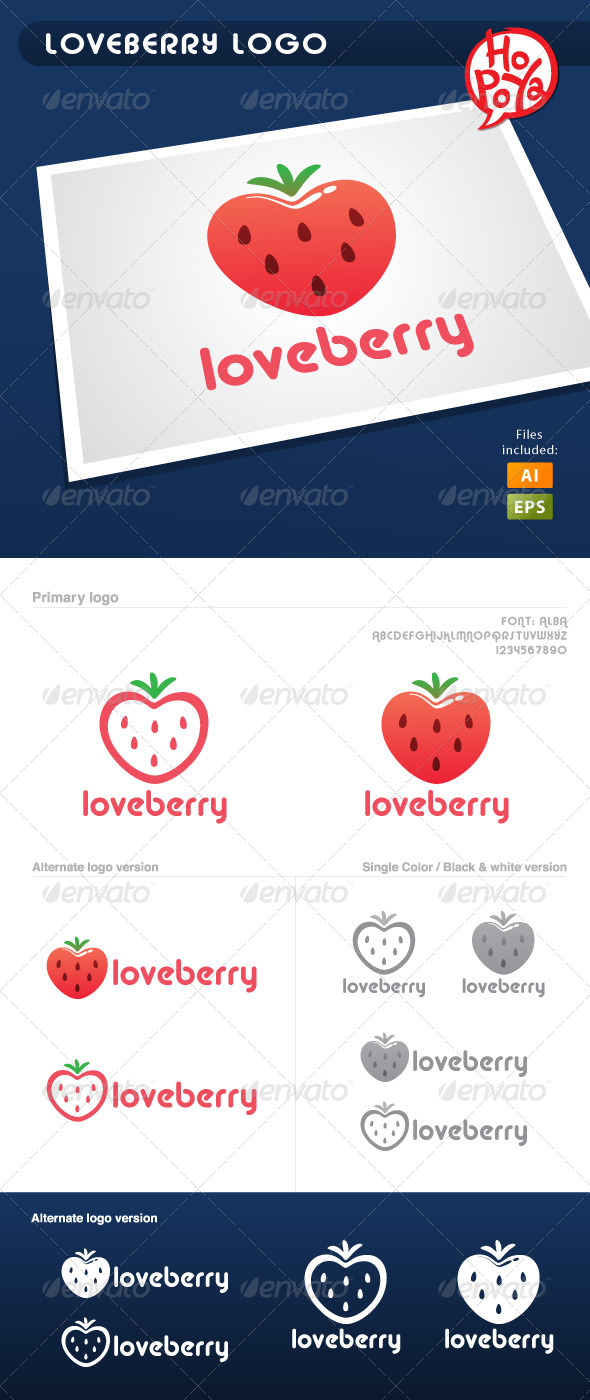 Loveberry Logo - Food Logo Templates