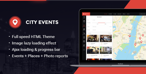 CityEvents - Highly-Optimized AJAX and AMP-Ready Directory Template
