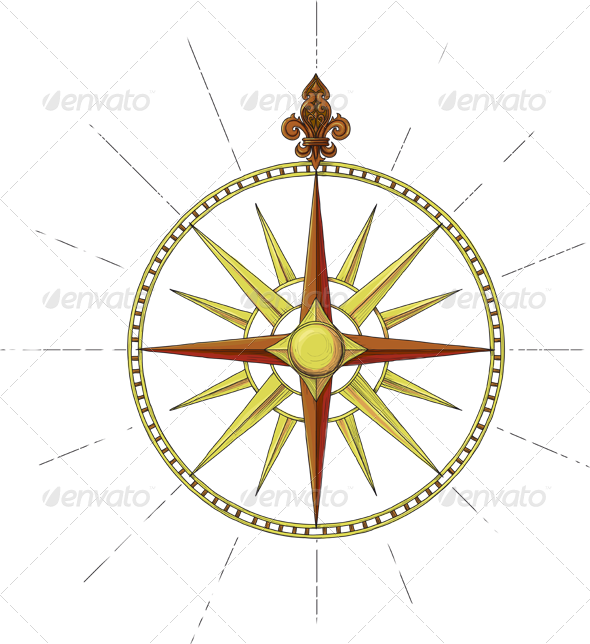 Former Marine Wind Rose symbol - Travel Conceptual