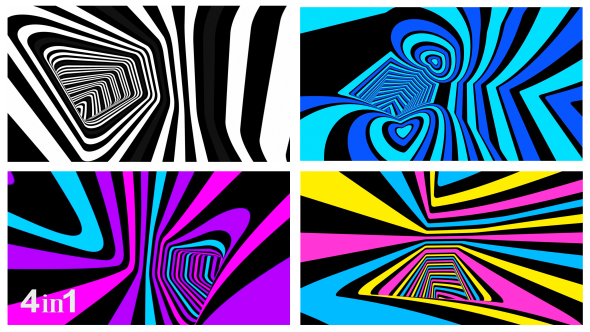 VideoHive Colored Tunnel 4-Pack 18812020