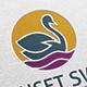 Sunset Swan Logo