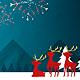 Christmas Card Fireworks of Santa