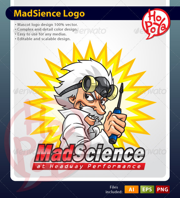 GraphicRiver Mad Science Mascot 1851561