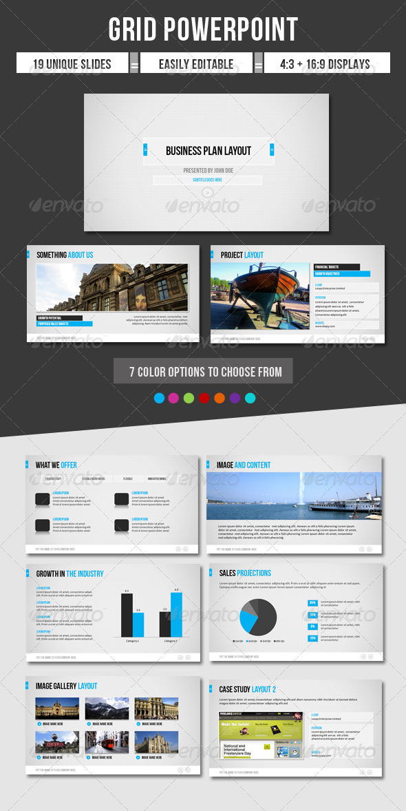 GraphicRiver Grid Powerpoint 1195567