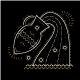 Thin Line Zodiac Aquarius Label