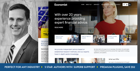 Download Economist - Business and Finance WordPress Theme nulled download