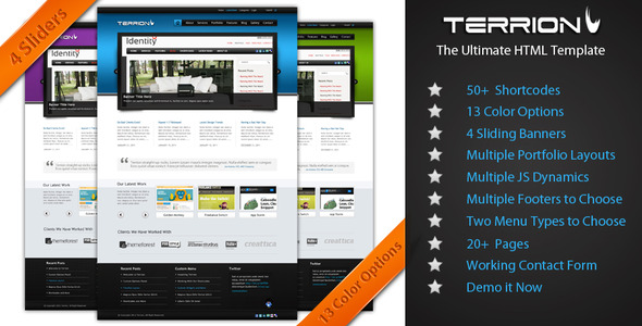 Terrion - Creative Site Templates