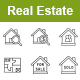 Real Estate Outlines Vector Icons