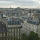 Panorama Of Paris With Flying Pigeons
