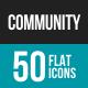 Community Flat Multicolor Icons