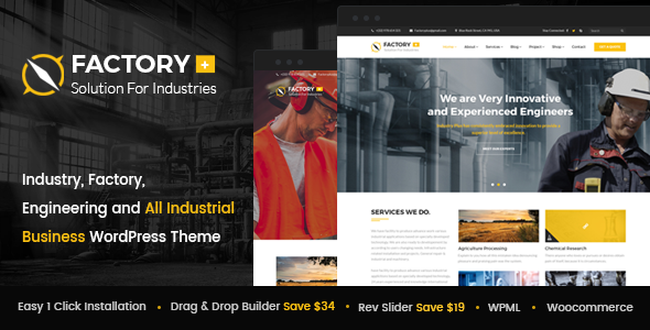 Factory Plus – Sector, Factory, Engineering and All Industrial Business enterprise WordPress Theme (Business enterprise)