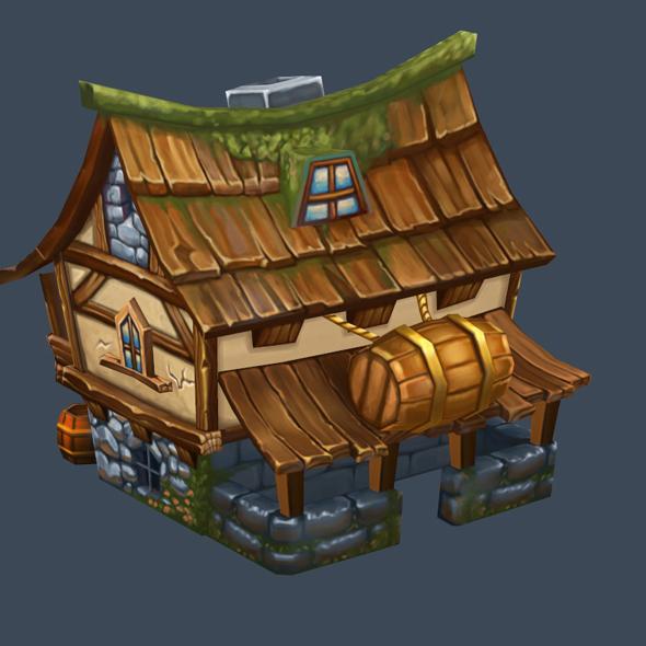 cartoon house 11 - 3DOcean Item for Sale