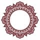 Indian Henna Floral Round Pattern - Mehndi