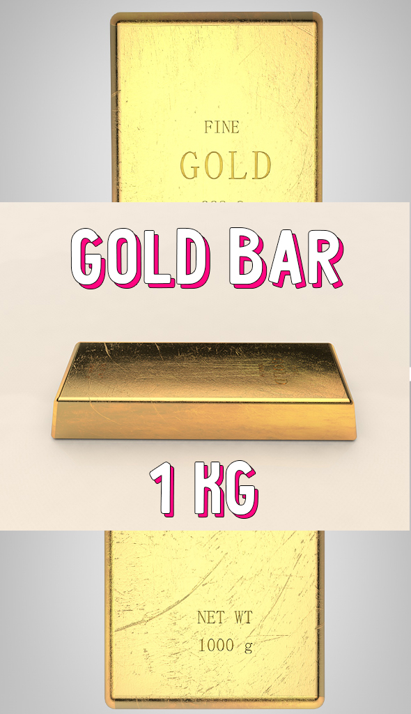 gold bar - 3DOcean Item for Sale