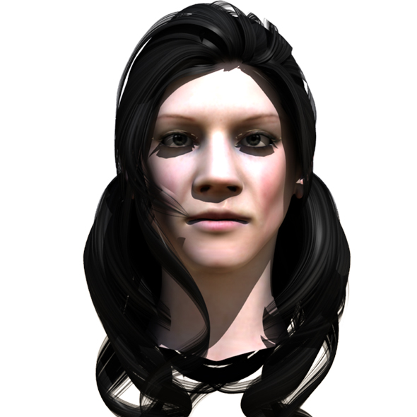 Sara - Head Model - 3DOcean Item for Sale