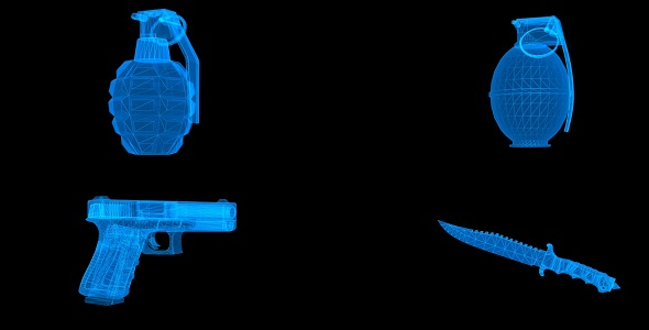 Download Hologram Of Weapons: Pistol, Grenade, Knife nulled download