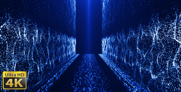 Download Blue Particles Tunnel nulled download