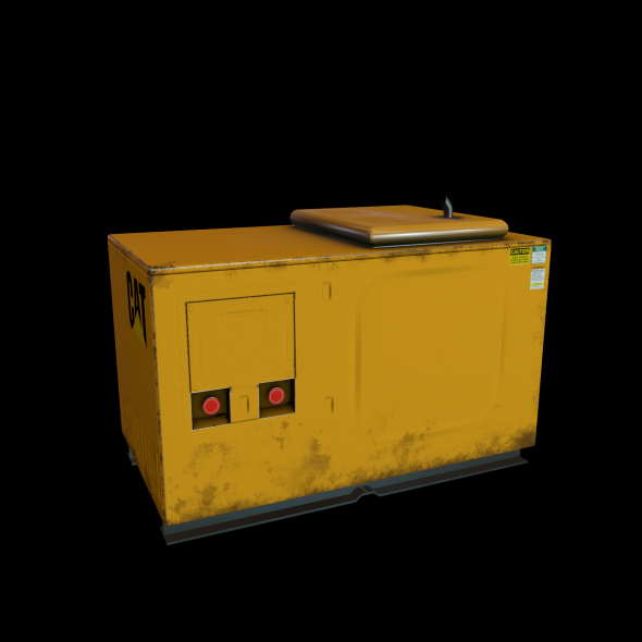 CAT Diesel Generator Low Poly Game Ready 3D Model - 3DOcean Item for Sale