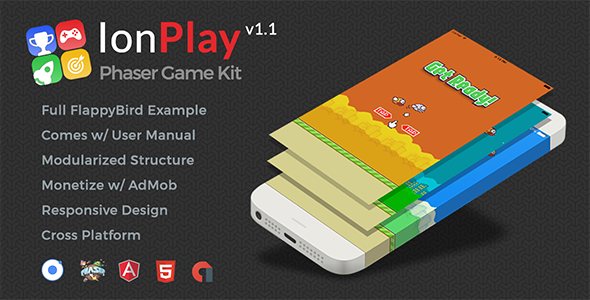 IonPlay | Phaser Game Kit - Develop Cross Platform Games with Phaser and Ionic