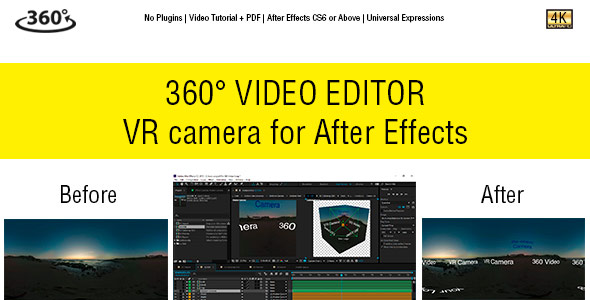 Download 360° Video Editor & VR Camera for After Effects nulled download