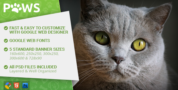 Download Paws - Pet Store HTML5 Ad Template nulled download