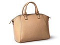 Elegant women beige handbag rotated rear view