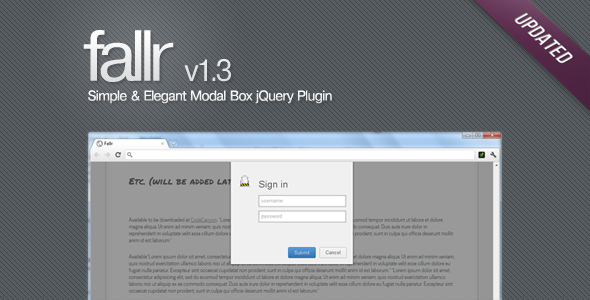 CodeCanyon Fallr Simple & Elegant Modal Box jQuery Plugin 372581