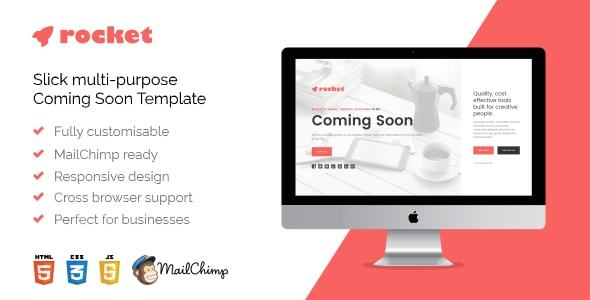 Rocket – Responsive Multi-Goal HTML5 Coming Quickly Template (Below Building)