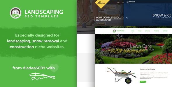 Landscaping - Landscape, Snow Removal & Construction PSD Template
