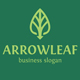 Arrow Leaf Logo Template