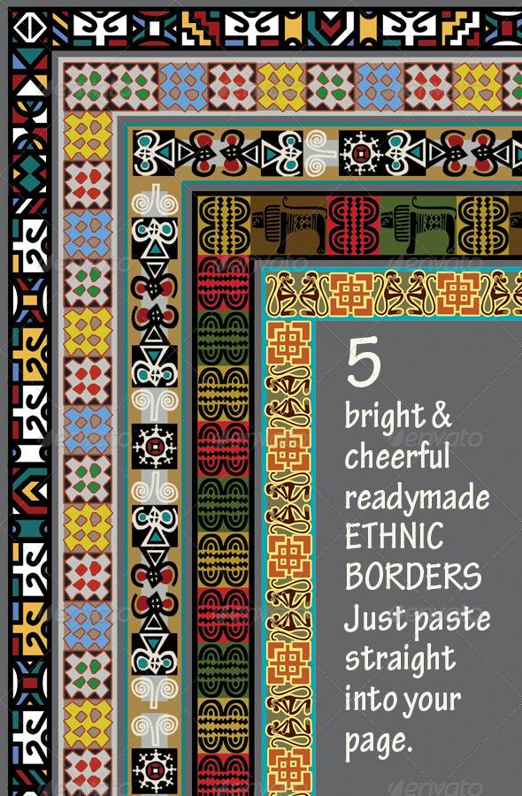 5 Ethnic Borders Africa Asia Americas