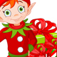 Red Haired Christmas Elf Holding Up a Thumb