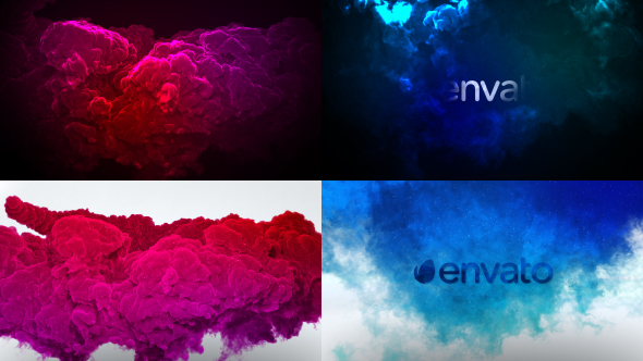 Color Smoke Logo Reveal 2 Abstract After Effects Templates F5