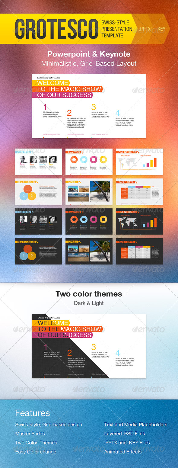 GraphicRiver Grotesco Presentation Template 1734066