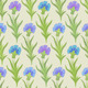 Vector Seamless Floral Pattern with Cornflowers