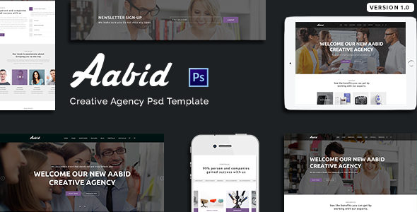 Aabid | Creative Agency PSD Template