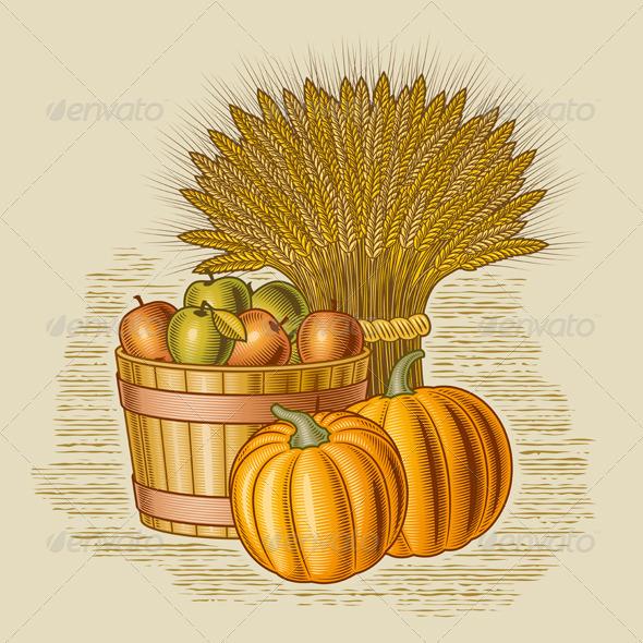 Retro Harvest Still Life