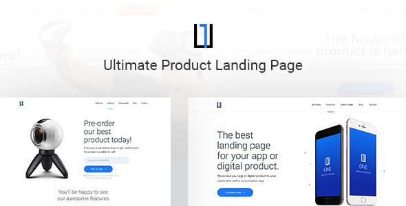 One - Ultimate Product Landing Page PSD