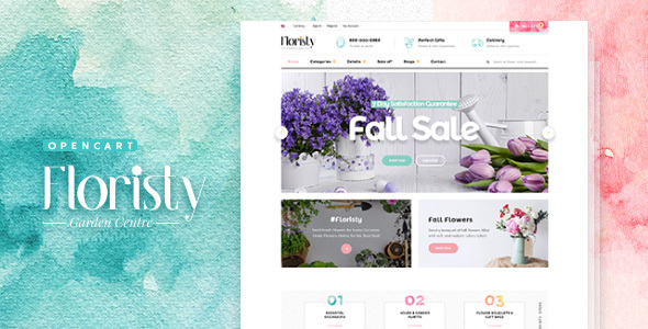 Pav Floristy - Best Flower Shop Opencart Theme