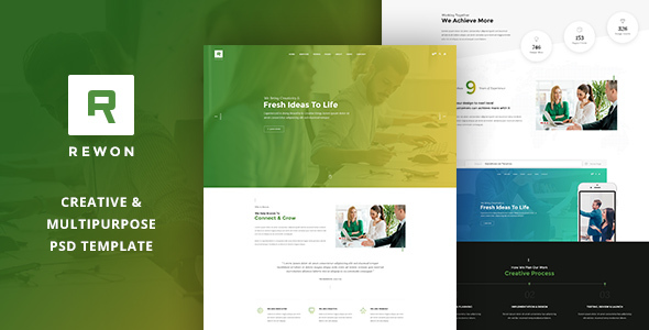 REWON - Multipurpose PSD Template
