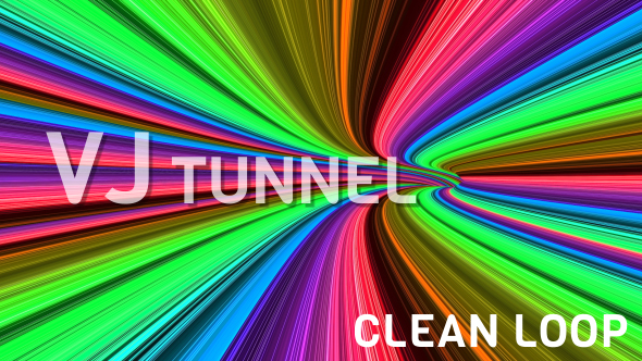 VideoHive Colorful Disco Tunnel 18852941
