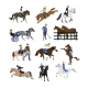 Vector Set of Horse Riders Icons