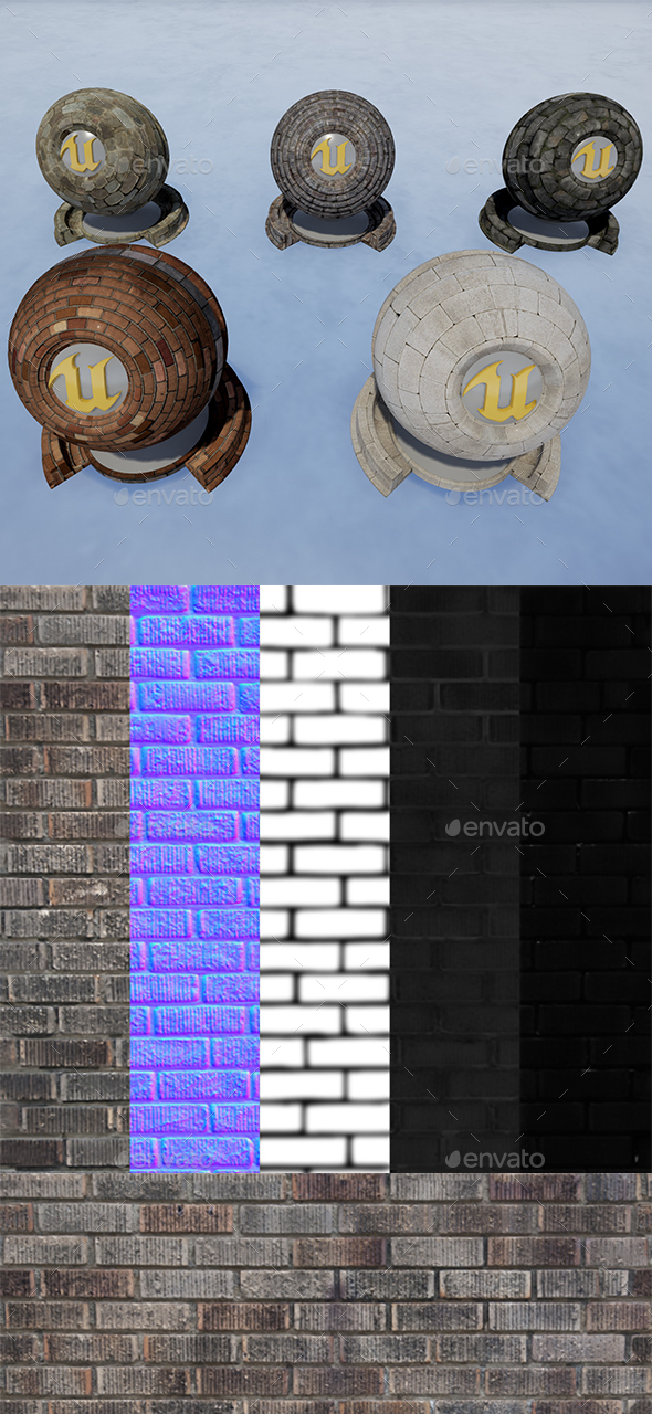 Brick_Texture_Pack(PBR) - 3DOcean Item for Sale