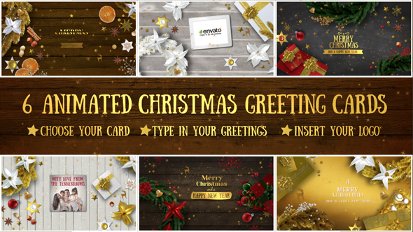 6 Christmas Greeting Cards
