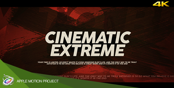 Download Cinematic Extreme Trailer - Apple Motion nulled download