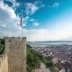 Historical Lisbon Baixa Downtown And Tagus River